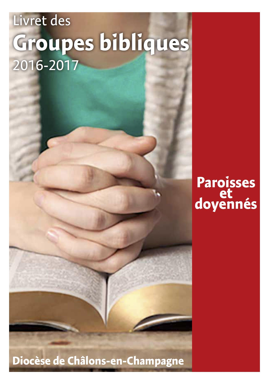 Livret des groupes bibliques